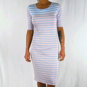 LulaRoe JULIA Striped Dress Size Small Rainbow